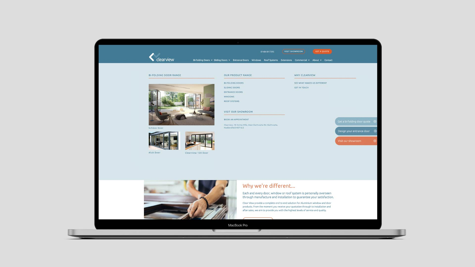 Clearview website and messaging