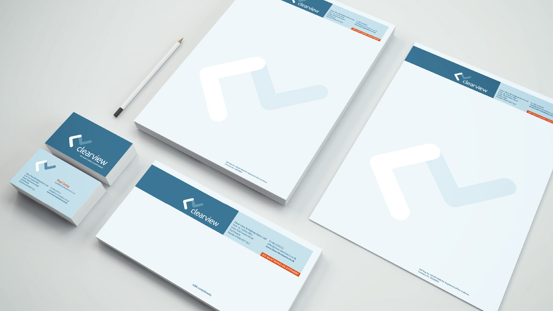 Clearview stationery