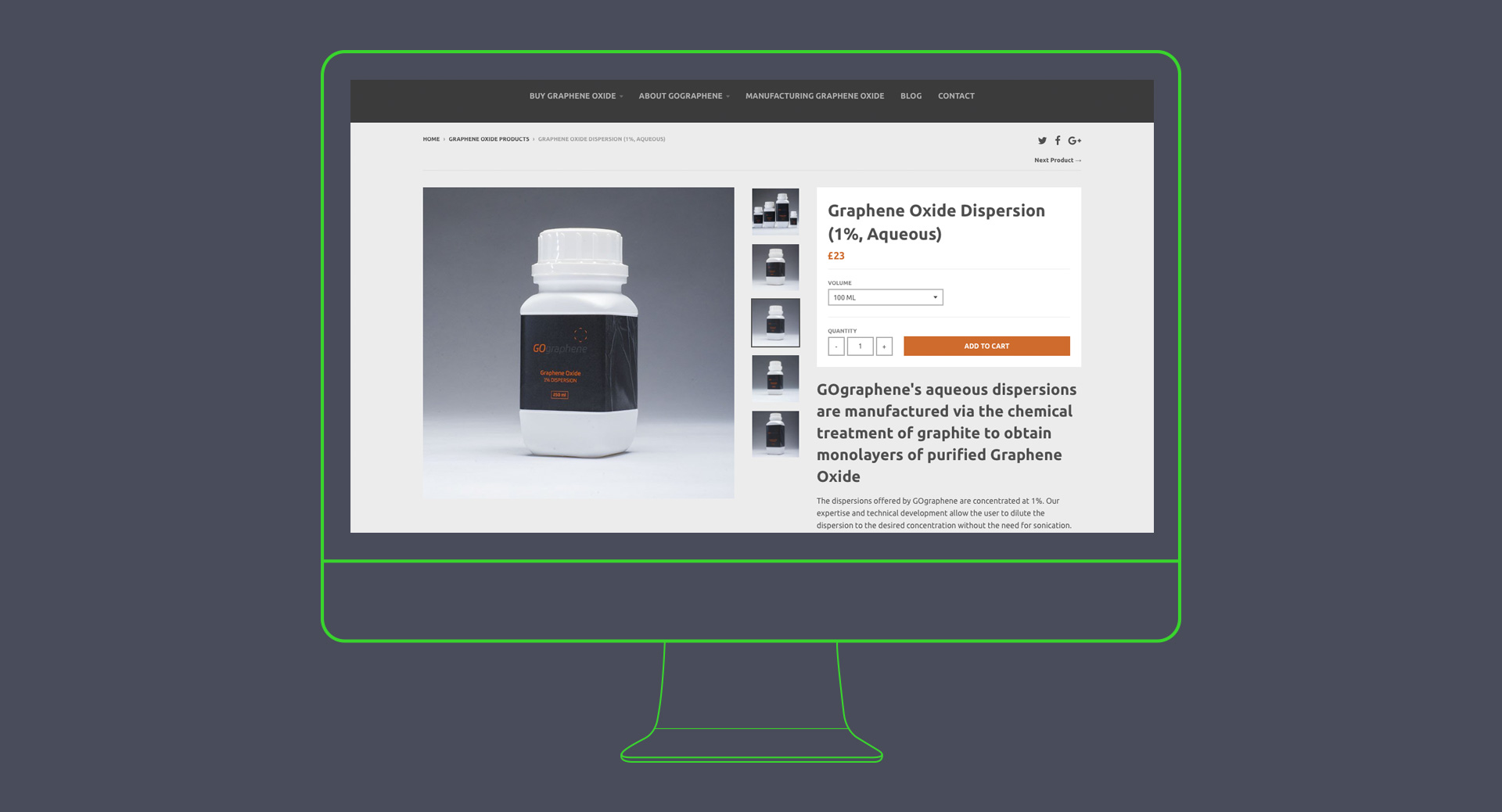 go graphene branding and web shop