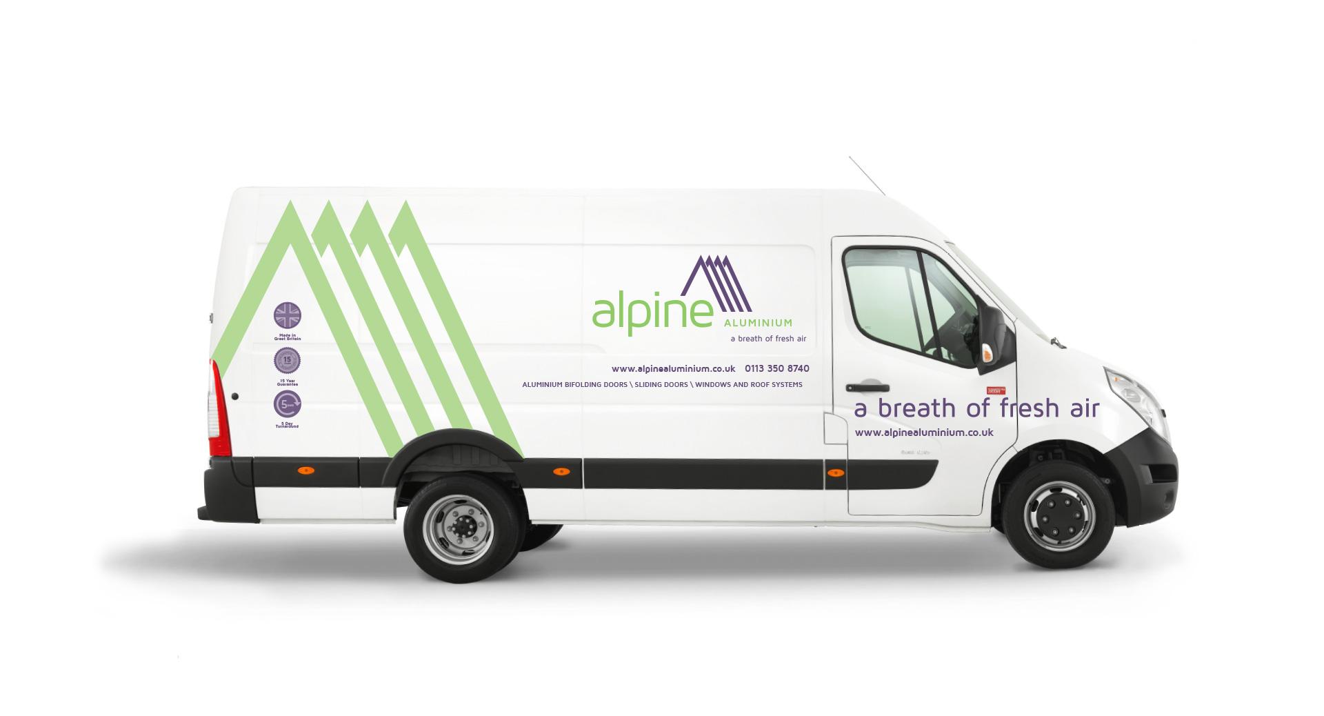 alpine branded vehicle
