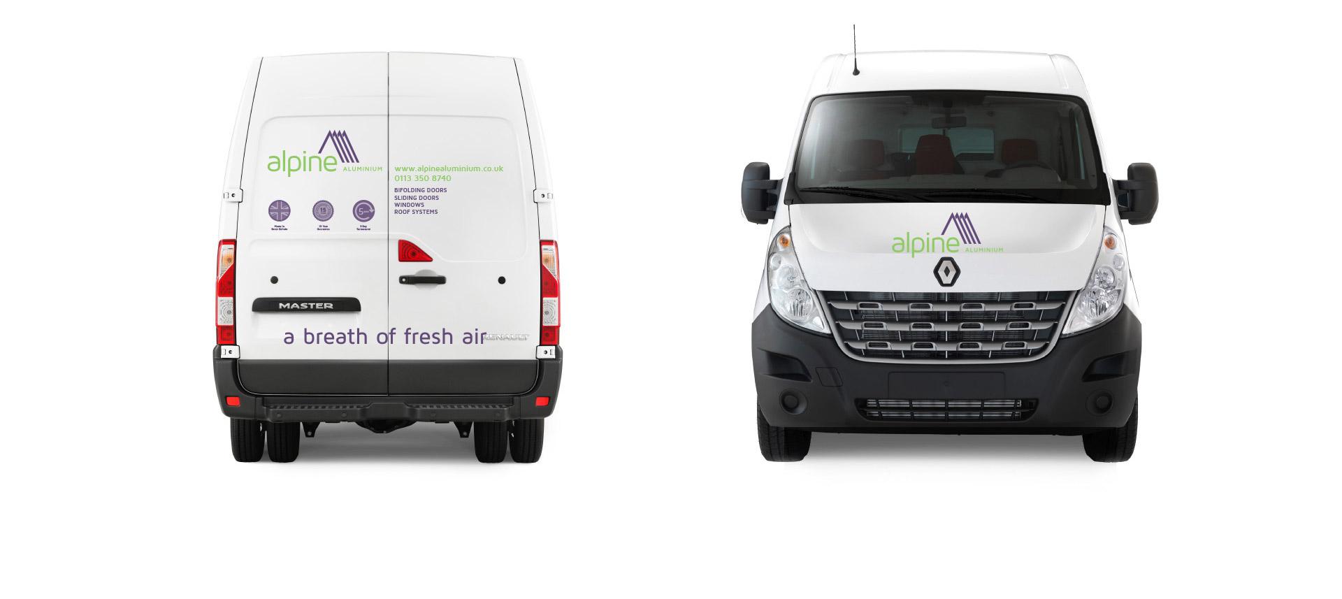 alpine branded vehicles
